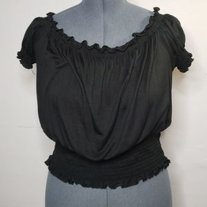 Rue21 Black Crop Top - XL